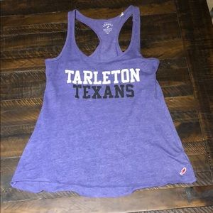 Tops - Tarleton State University Texans purple tank